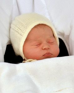 The Duke and Duchess of Cambridge newborn daughter at St Mary's Hospital on May 2, 2015 in London, England. The Duchess was safely delivered of a daughter at 8:34am this morning, weighing 8lbs 3 oz who will be fourth in line to the throne.