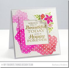 Together Forever, Mini Modern Blooms, Mini Hearts Background, Mini Modern Blooms Die-namics, Square Frames Die-namics - Barbara Anders  #mftstamps