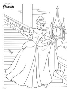 Disney cinderella coloring pages 2015 ~ 1000+ images about DISNEY CINDERELLA on Pinterest | Lily ...