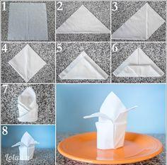 Cách xếp khăn cho bàn tiệc