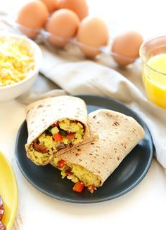 Fit Foodie Finds' protein-packed breakfast burrito recipe is meal prep at its finest. With a whopping 27 grams of protein per serving, this savory egg-n-bacon wrap is perfect to grab before work or school! Make a few extra to store in the freezer, and pop one in the toaster oven for an easy reheat meal …