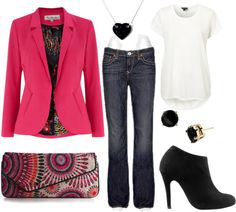 My Pink Jacket goes with Everything, created by ekjackson on Polyvore