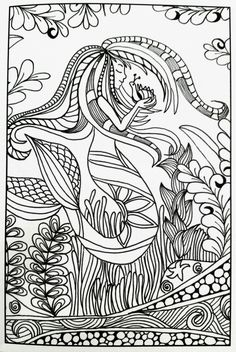 295 Best Mermaid Coloring Pages For Adults Images In 2019 Mermaid