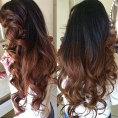 Dark brown ombré. Maybe this is how I'll go