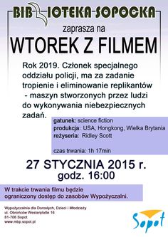 Wtorek z Filmem - 27 stycznia 2015 r. #movie #film #poster #biblioteka #library #sopot
