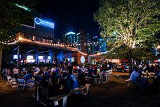 Rooftop Patio, Patio Bar, Rooftop Bar, Rooftop Lounge, Dallas Restaurants Best, Dallas Hotels, Happiest Hour Dallas, Big Jenga, Visit Dallas