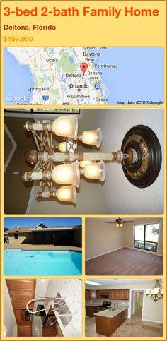 3-bed 2-bath Family Home in Deltona, Florida ►$159,900 #PropertyForSale #RealEstate #Florida http://florida-magic.com/properties/91938-family-home-for-sale-in-deltona-florida-with-3-bedroom-2-bathroom