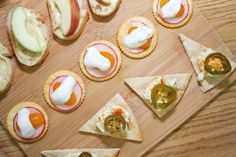 Holiday Canapes | Canapes with Toby's tofu and dressings - GREAT ideas!