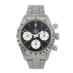 LOT:283 | ROLEX - a gentleman's stainless steel Oyster Cosmograph Daytona chronograph bracelet watch.