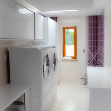 laundry room with window.  by Bedo Design Inc.