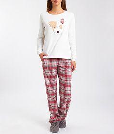Pyjama 2 pièces en coton - RUSSEL - BEIGE - Etam