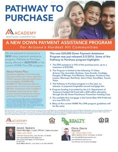 Only available in certain areas of Arizona, this Program will give buyers up to $20,000 FREE down payment assistance that does not have to be repaid!!! WHAT?!?! Mortgage Assistance, Down Payment, Home Buying, Top, Credit Score, Arizona, Spinning Top, Flagstaff Arizona, Crop Shirt