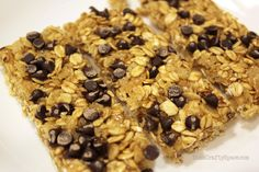 The Best EVER Homemade Chewy Granola Bars! Great basic recipe allows you to mix in all sorts of additions.