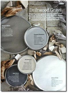 Driftwood Grays +The Top 30 Paint Colors - Better Homes And Gardens Featured…