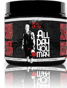 Rich Piana 5% Nutrition ALL DAY YOU MAY | Bodyconscious uk