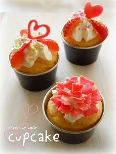 母の日のカップケーキ/ cup cakes for mother's day