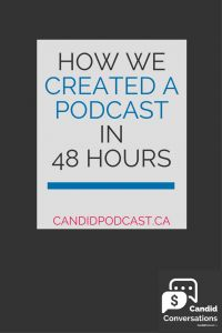 Learn how we created a podcast... in just 48 hours! In this article, you'll get a behind-the-scenes peek at the first 24 hours of the Candid Conversations podcast, a business podcast sharing real-life stories about entrepreneurship.