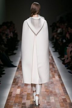 Valentino Fall 2013 RTW Collection.  White cape, back.