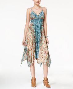 American Rag Printed Handkerchief-Hem Dress, Only at Macy's - Juniors Dresses - Macy's