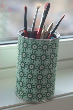 Redesign - fra blikkboks til blyantboks Diy, Home, Bricolage, Ad Home, Do It Yourself, Homes, Homemade, Haus, Diys