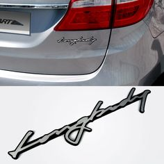 Car Longbody Lettering Emblem For Hyundai Santa Fe
