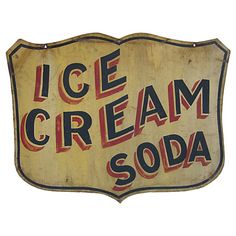 Ice Cream Soda Day is celebrated on 20 June Ice Cream Soda is a beverage which consists of ice cream as a soft drink or flavored syrup. Ice cream soda was invented in Here we present Ic… Vintage Logos, Vintage Advertising Signs, Vintage Tins, Vintage Labels, Vintage Advertisements, Cream Soda, Metal Signs, Wooden Signs, Design Retro