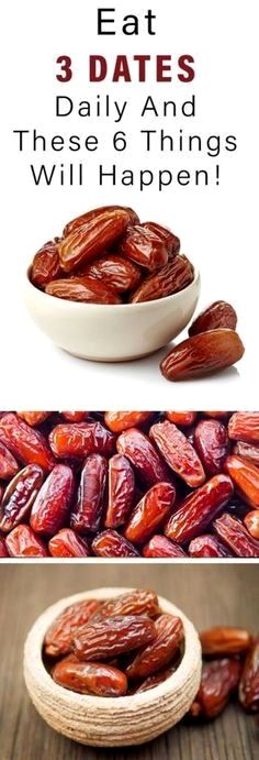 Eat 3 Dates Daily And These 6 Things Will Happen!  Incredible #dates #healthy #healthbenefits