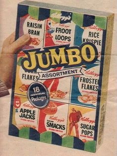 Assorted cereal pack-grandma always bought these for camping trips.
