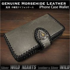 Genuine Leather Wallet Card Holder Cover Flip Case for iPhone Plus Horsehide Gray(ID Iphone Flip Case, Iphone Wallet Case, Card Wallet, Iphone 6, Iphone Cases, Wild Hearts, Leather Wallet, Card Holder, Gray