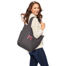 Go To Tote ($58) in City Charcoal Swiss Dot.   Get yours today at www.mythirtyone.com/meganfulsom