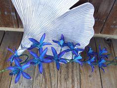 4 Stems Blue Galaxy Star Dendrobium by ArtisticFloralDesign