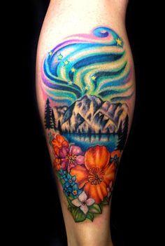 dd391f2f9a819 Tattoo on Pinterest | Northern lights tattoo Swan tattoo and Northern  Alaskan Tattoos