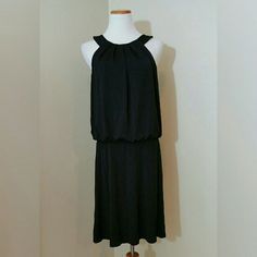 WHBM Little Black Dress WHBM Little Black Dress. Elastic drop waist. 3 button closure nape of neck w/ Keyhole. Stretchy. NWT.  No trade or PP  Offers Considered  Bundle discounts White House Black Market Dresses