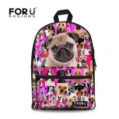e4d0b13a451b Online Shop Children School Bags American France Bulldog Shoulder Schoolbag  for High Primary School Girls Kids