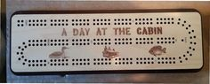 A day at the cabin Cribbage Board in Toys & Hobbies, Games, Card Games & Poker | eBay