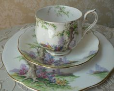 royal albert Greenwood Tree teacup - 1927 through 1935.