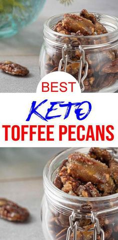 Low Carb Keto Toffee Coated Pecans Idea – Sugar Free – Quick -You can find Toffee and more on our website.BEST Keto P. Keto Foods, Ketogenic Recipes, Keto Snacks, Ketogenic Diet, Quick Snacks, Low Carb Sweets, Low Carb Desserts, Low Carb Recipes, Quick Recipes