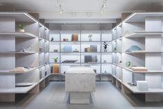 Dinesen and cabinetmaker Garde Hvalsøe launch joint showroom in Aarhus, designed by Studio David Thulstrup Aarhus, Plank, Metal Daybed, Interior Architecture, Interior Design, The Doors, Showroom Design, Layout, Dressing Rooms