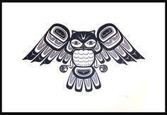 Haida Owl Clarence Mills Haida Nation. Great art!