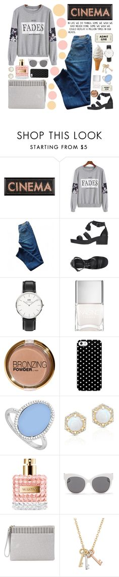"""[ Cinema Date ]"" by demigeorgia ❤ liked on Polyvore featuring Levi's, Windsor Smith, Daniel Wellington, Nails Inc., H&M, Uncommon, LoveBrightJewelry, Blanc & Eclare, Sole Society and Fremada"