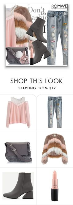 """Romwe II 8/10"" by dinna-mehic ❤ liked on Polyvore featuring Urbancode, MAC Cosmetics and romwe"