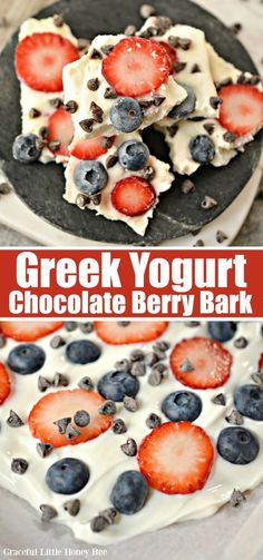 Try this super easy Greek Yogurt Chocolate Berry Bark for a fun and healthy - Tattoo MAG Healthy Recipes, Healthy Desserts, Delicious Desserts, Snack Recipes, Dessert Recipes, Cooking Recipes, Dinner Recipes, Sweet Recipes, Healthy Food