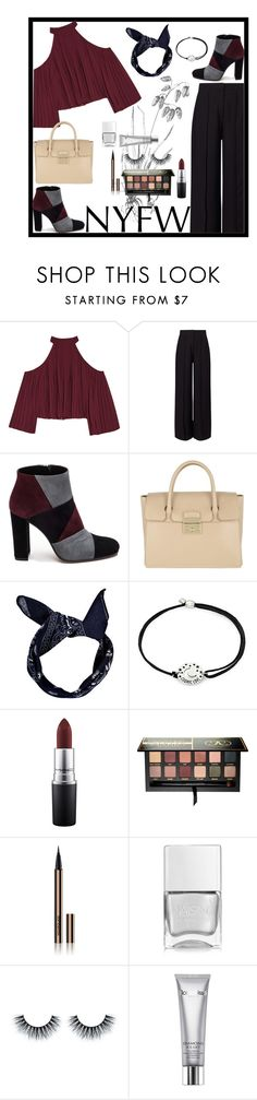 """""""Much love"""" by echarra ❤ liked on Polyvore featuring W118 by Walter Baker, Miss Selfridge, Roberto Festa, Furla, Boohoo, Alex and Ani, MAC Cosmetics, Anastasia Beverly Hills, Hourglass Cosmetics and Nails Inc."""
