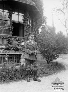 Major General John Monash photographed at Glisy, Villers-Bretonneux area, 25 May 1918.