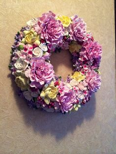 #Spring wreath #Decoration a wreath #On the wall for homemade #Holiday wreath #Floral #Home decor #Everyday wreath #Easter wreath #Hydrangea wreath