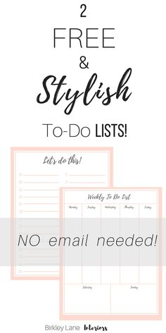 Stop here for a stylish to do list that you'll love!  I've created a FREE printable to do list that will look great hanging on your fridge or anywhere else!