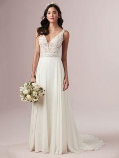 a1475a0451c A simple boho style wedding dress for the festival bride.   simpleweddingdress  bohemianweddingdress