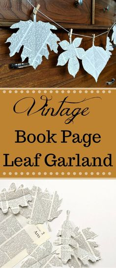 Simple Book page garland that is fast, easy, and FREE! A fun afternoon project to do on your own or with the kids in your life. A book page garland is a great way to accent your home on a dime.