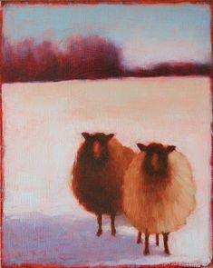 Sheep in Winter by Tracy Helgeson More