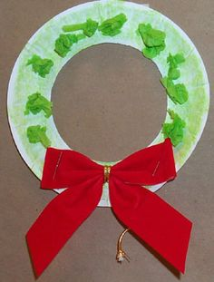 I remember making this in school. My mom still has it. So making some with Delilah this year! Tissue paper, paper plate wreaths :)